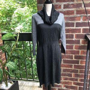 Loft Black/ Gray Sweater Dress Size L